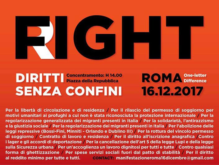 #FightRight, sabato a Roma la marcia dei dannati