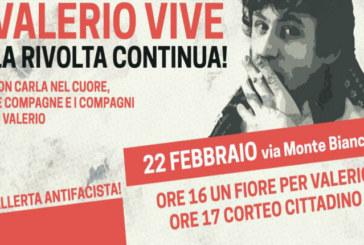 Ricordando Valerio a 38 anni dal suo assassinio, contro ogni fascismo