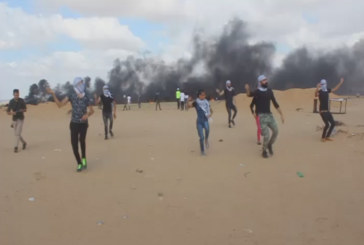 Gaza: un dabke ai confini con Israele (video)